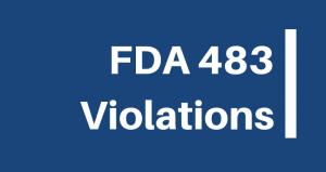 FDA 483 Violations