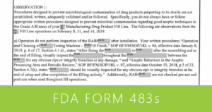 FDA Form 483s Feature Image
