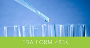FDA Form 483s - April