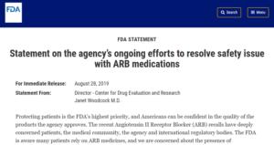 FDA ARB Statement
