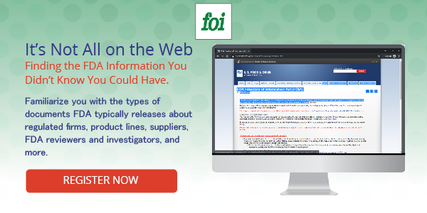 FDA FOIA Site Webinar Ad