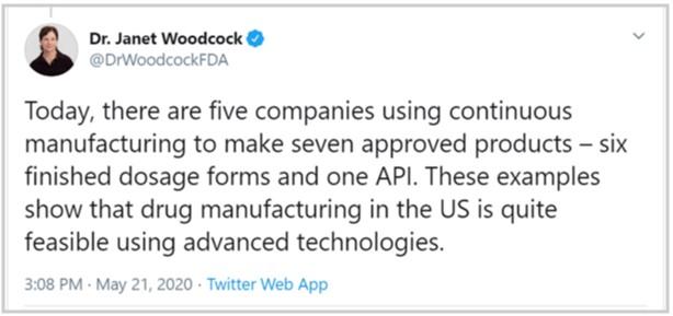 Dr. Janet Woodcock Tweet